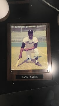 Signed Hank Aaron Plaque SF