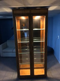 Two glass cabinets