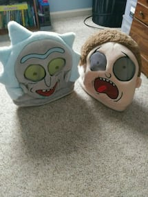 Rick and Morty costume heads