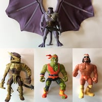 90s action figures gargoyles wwf predator toxic crusader Port Perry, L9L 1B5