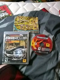 Midnight club ps3 game disc with case and map  Windsor Heights, 50324