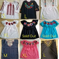 Hand embroidered mexican blouses  Tomball, 77375