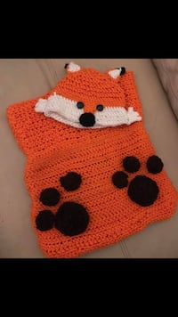 Crochet fox cocoon and hat Linthicum Heights, 21090