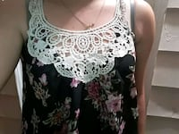 women's white and black floral tank top Long Beach, 90815