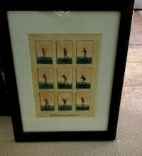 Burgundy framed golf swing picture Lake Country, V4V 2P2