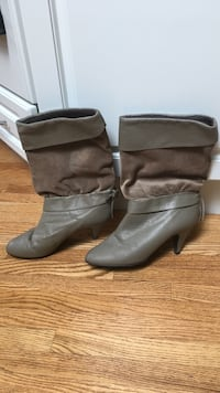 Leather /suede dress boots