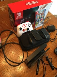 Nintendo switch with Smash, a case, and a Power A controller