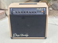 Classic black and brown dean markley guitar amplifier