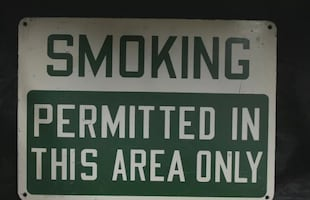 Vintage smoking sign