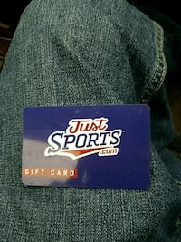 purple and multicolored Just Sports.com gift card Kent, 98032