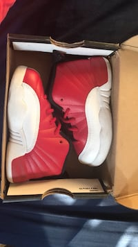 pair of white Air Jordan 12 shoes with box Los Angeles, 90003