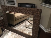 Like new mirror 4 feet by 3 feet with bronze detail Whitchurch-Stouffville, L4A 0B7
