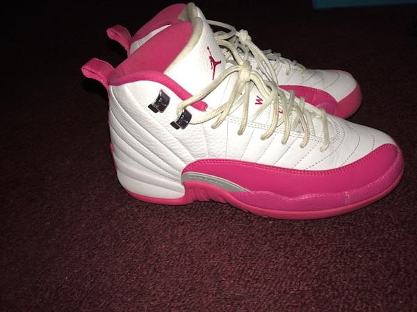 4c2be5a339ea3b Used White and pink air jordan 12 for sale in Westfield - letgo
