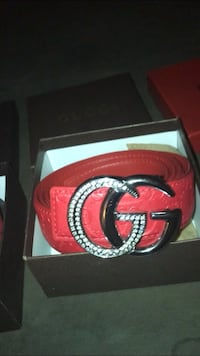 red and black Gucci leather belt with box Austin, 78750