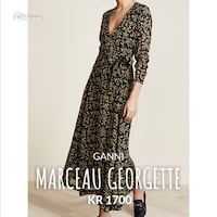 Ganni Marceau georgette Wrap Dress. Str.34 Ytre Enebakk