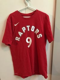 Raptors Serge Ibaka Red Tee North Vancouver, V7G