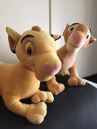 Simba and Napa Lion King large stuffed Disney characters Burlington