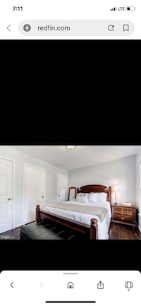 Bed, mattress, box spring, nightstand and mirror - as a set