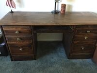 Brown wooden desk 199 mi