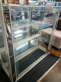 stainless steel framed glass display counter