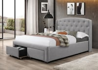 Brand new in box king platform bed with drawers Mississauga