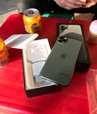 Midnight green iPhone 11 pro max with box