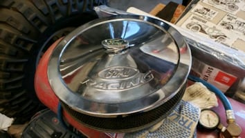 Ford racing air cleaner with Ford racing wing nut .