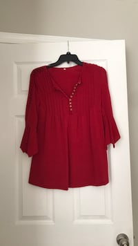 Red long sleeved blouse Clarksburg, 20871