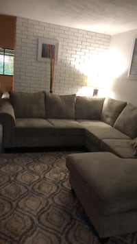 gray and black sectional couch Houston, 77072