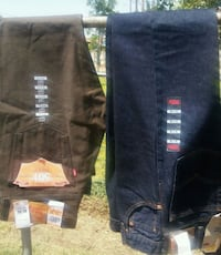 two black and blue denim jeans Carlsbad, 88220
