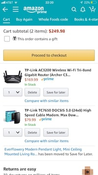 TP link router and modem  Herndon, 20171