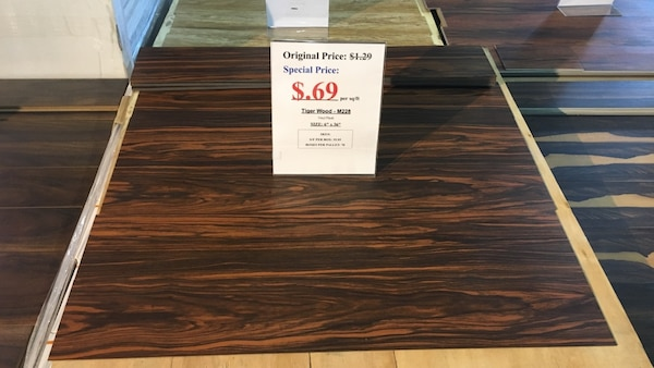 Used Vinyl Plank Tiger Wood Special Price 69 Per Sq Ft Size
