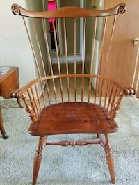 brown wooden windsor rocking chair Springfield