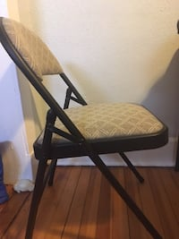 (SOLD) 4 Print Folding Chairs. $5 each. Must pick up. Albany, 12210