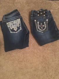 two black and blue denim jeans Channelview, 77530