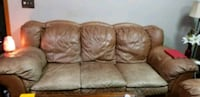 Real Leather 3 piece sofa used Lawrenceville, 30044
