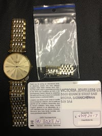 Longines watch with fullbox and warranty card.