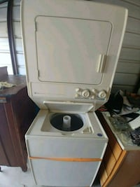 Commerical Maytag stacked washer an gas dryer