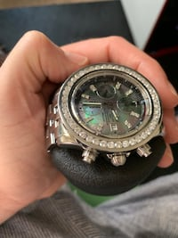 Breitling Chronograph. 4.5ct Diamond bezel