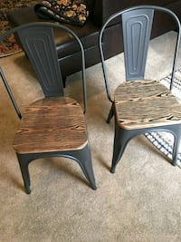 two brown wooden chairs with brown wooden bases Newark, 43055