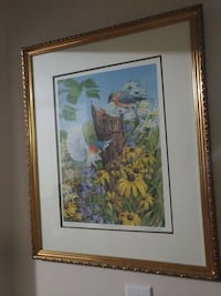 Visiting Blubirds limited framed and signed print Sarnia, N7T 5N7