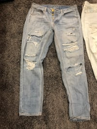 distressed blue-washed jeans Columbus, 43217