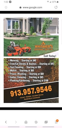 Landscaping and lawn care Lawrence, 66049