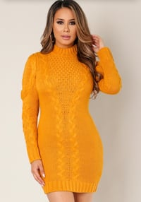 women's yellow long-sleeved dress Washington, 20011