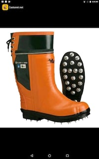 Steal toe spiked viking work boots size 9 mens