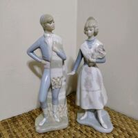 "Pair of 10"" tall porcelain Lladro style figurines Toronto, M2J"