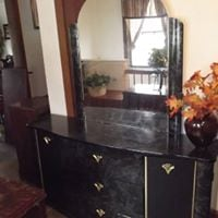 black dresser with mirror  Front Royal