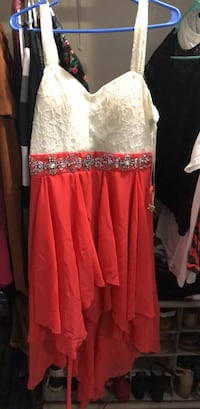 Women's white and coral sleeveless dress Tampa, 33615