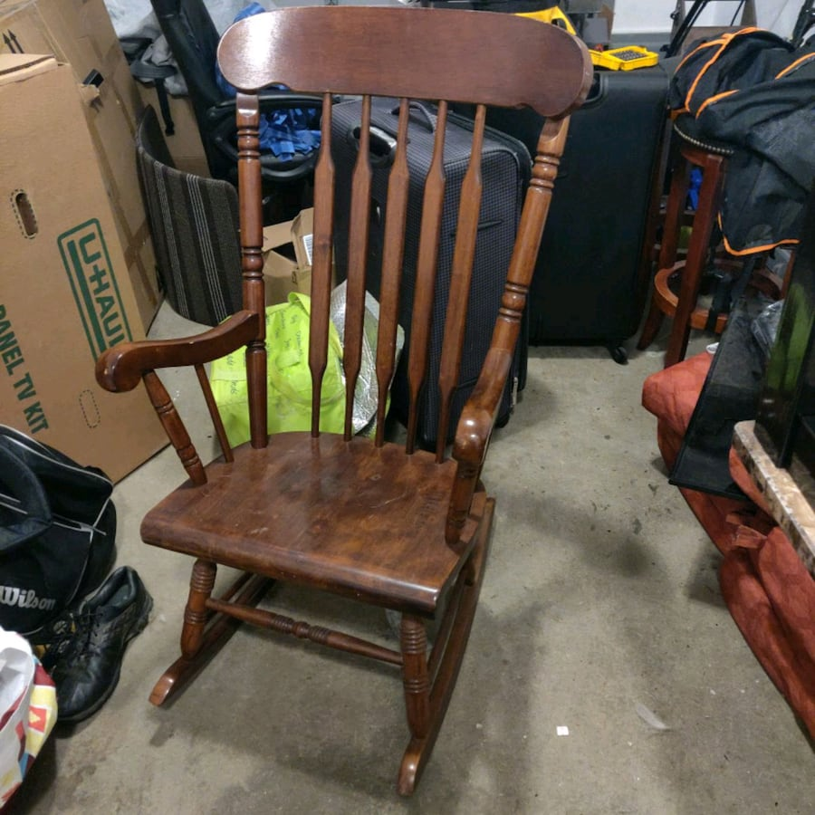 Rocking chair and fan for sale
