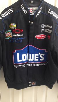Lowe's Nascar Jimmie Johnson lined cotton jacket Mens XL Catonsville, 21228